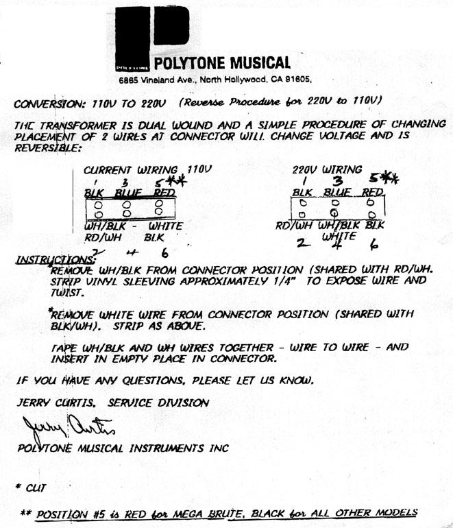 polytone service info conversion
